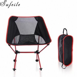 SUFEILE camping en plein air Barbecue portable Chaise pliante ultra léger en alliage d'aluminium Lune Beach Chair Pêche S15D50 4lsJ #