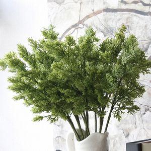 1pc Noël arbre de pin branches artificielles Pinaster branche Cypress pour l'automne d'automne décoration Halloween verdure feuilles fleur SAGD #
