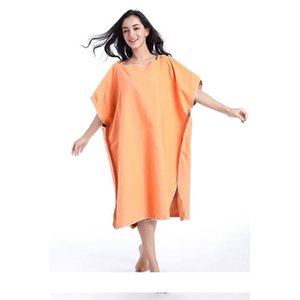 2018 New beach Towel microfiber bathrobe Poncho Hooded washrag multicolor Absorbent Quick drying Easy for Changing Cloth