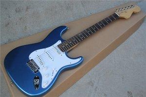Custom Vintage Metallic blue Malmsteen Scalloped maple fingerboard Big Head ST 6 string electric guitar guitarra