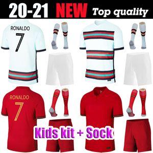 2020 RONALDO Kit enfants Maillots de football Portuga SILVA J.MOUTINHO Accueil à l'extérieur de football Chemises ANDRE GOMES JOAO FELIX Uniformes Camisetas de Futebol