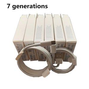 100 piezas 7 generaciones la calidad original del OEM de 1 m / 3 pies 2 m / 6 pies de datos USB de sincronización y carga para el cable del teléfono con la caja del paquete al por menor
