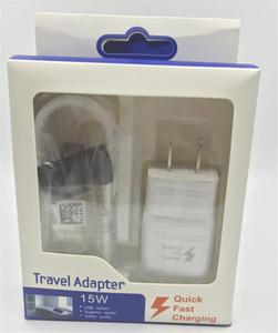 2 в 1 быстрое зарядное устройство наборы быстрой зарядки настенное зарядное устройство быстрого путешествия адаптер + 1,5 м микро USB с розничной упаковкой для Samsung S5 S6 S7 LG