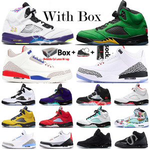 2020 Jumpman 5 5s Mens Basketball Shoes Fire Red Top 3 Travis Scotts White Cement UNC Black Cat Green Island 3s Designer Sneaker Sneakers