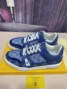 2020fw monogrammes formateur Retro concepteur mens vintage chaussures de basket-ball chaussures de sport Casual chaussettes Chaussures de sport LouiTrainer HG1368220