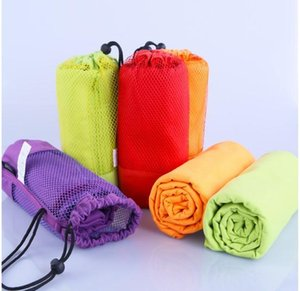 70x130cm Larger Size Sports Towel With Bag Microfiber Gym Towel toalha de esportes Swimming Travel essiential 5 colors SN1201