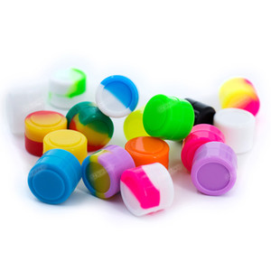Wholesale не-палка 2ml FDA силиконовые контейнер круглые коробка для воска Stealeage Silicone Box JAR DAB доставка бесплатно