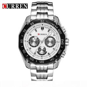 O Curren Brand Fashion Military Quartz Watch Men Casual Waterproof Relogio Masculino Army Wristwatch Silver Relojes Hombre