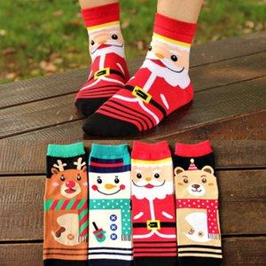 1 Pair Women Men Winter Warm Christmas Soft Cotton Blend Santa Claus Deer Socks Xmas Christmas socks