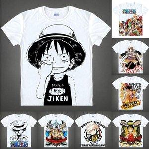 Anime Shirt UN PEZZO T-shirt Ciurma di Cappello di Paglia manica corta scimmia D Luffy Zoro Nami Chopper Cosplay motivs Hentai Camicie