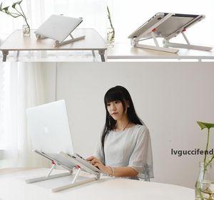 Tüm Laptop için Laptop Standı Tutucu Dağı Ayarlanabilir Açı Portatif Katlanır Dizüstü Lapdesk Ofisi Ergonomik Notebook Sehpası
