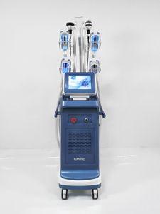 Mais poderoso 4 Cryo lidar com cryolipolysis juntos trabalhando Double Chin Remoção perda de peso laser gordura de gordura moldando máquina de cavitação