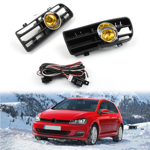 Areyourshop 1Pair Front Grille Fog Light Lamp Lower Grill Fit For VW Golf MK4 GTI TDI Car Auto Accessories Parts