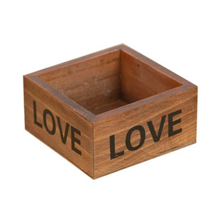 Natural Wooden Succulent Plant Flower Bed Pot Box Garden Planter Home Storage Box Wooden Jewelry Holder