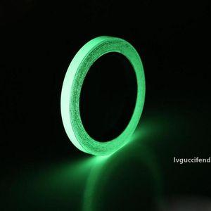6 Größe Lichtband Selbstklebende Langnachleuchtende Nachtsicht Glühen im dunklen Wandaufkleber Sicherheit Warnung Sicherheit Bühnendekoration