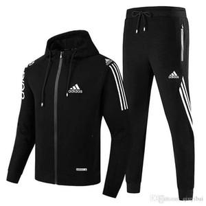 originali vestiti di modo da jogging tute Abbigliamento sportivo uomo da uomo con cappuccio Maglioni di autunno della molla casuali unisex sportivo insiemi dei vestiti Out