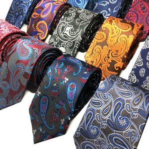 Mens Ties Classic Skinny Cashew Pattern Floral Ties For Men Casual Party Formal Business Wedding Necktie