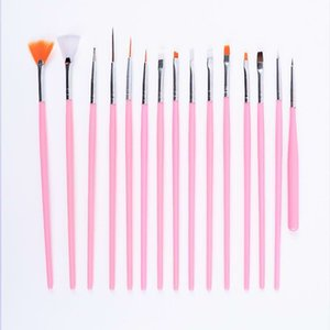 Fast Delivery Nail Art Tools 15PCS Nail Art Pen Painting Brush Cosmetic Nail Art DIY Draw Dotting Pen Tips Set