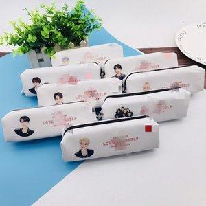 L'épreuve des balles groupe de jeunes nouvel album Étui à crayons Plumier sac de rangement de stockage sac de papeterie porte-monnaie même style périphérique
