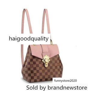 2018 New Style High Quality Genuine Leather Women Clapton Mini Ebene Pink Backpack Handbag