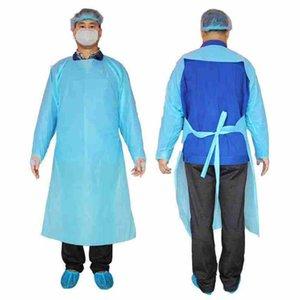 CPE protezione Abbigliamento monouso Isolamento abiti Abbigliamento Tute polsini elastici antipolvere Grembiule Outdoor Protective Clothing CYZ2288