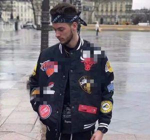 2020 Paris Fashion Hip Hop Giacca da uomo Giacche da uomo in esecuzione Overshirt Mens Ni Offset Badge Badge Camicie da baseball Stampa Street per uomo Abbigliamento