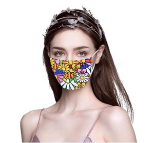 2020 NEW Luxury Breathable Face Mask Washable Reusable Fashion Masks Anti-Dust Protective Mask Summer Ultraviolet-proof Mouth-muffle Cover