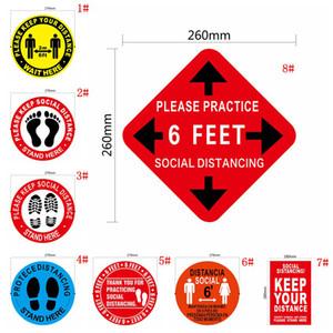 Zemin İşaretleme Bandı Sosyal Mesafe Kapalı Zemin Sticker Uzaklık Marker Kişisel Mesafe İşte Kat Çıkartması DBC BH3932 Standı tutun tutun lütfen
