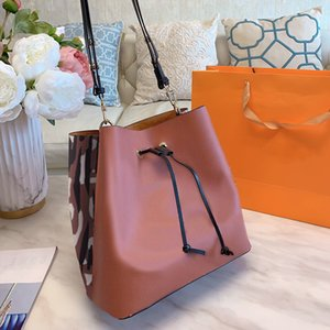New Designer Mini Genuine Leather Crossbody Handbags Camouflage Drawstring Bucket Bag Organizer PU Leather Womens Shoulder Messenger Bags