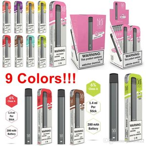 Bidi Stick Newest disposable vape Portable Vaporizer Device Upgraded Bar Starter Stick 9 Colors 1.4ml 280mAh empty bidi stick E-Cigarettes