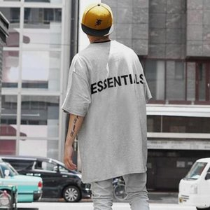European and American trend FOG FEAR OF GOD trend couple short-sleeved essen multi-line T-shirt loose men and women same trend short-sleeved