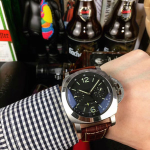 47mm*16mm PAMLeather Watches 316L Stainless Steel for Man Automatic PAM 2 colors Wristwatches 2020 new design