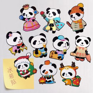 Custom PVC Soft Rubber Refrigerator Stickers Promotional Gifts Soft Magnetic Cartoon Panda Magnet Refrigerator Stickers cute Stickers
