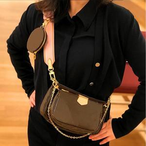 New Ladies Handbags Purses Women Favorite Mini Pochette 3pcs accessories Crossbody Bag vintage Lady Shoulder Bags PU Multi Color Straps