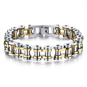 Biker 316L Stainless Steel Mens Bracelet Fashion Sports Jewelry Bike Bicycle Chain Link Bracelet Casual Jewellery GS781