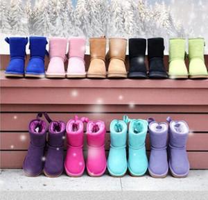 2020 enfants enfants adulte eu21-44 grand taille basse prix neufs de neige bottes de neige arc en cuir épais dans le tube chaussures de coton chaussures de coton