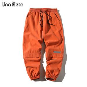 Una Reta M-5XL Streetwear Joggers New Summer Casual Pants Men Pantalones Hip Hop Cargo Pants Elastic Waist Men's