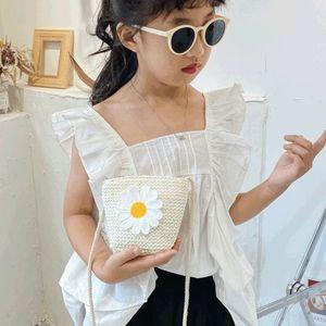 Bambini Bao Tong Woven s er Bao Tong bambino fuori il sacchetto tessuto ragazza carina messaggero 2020 nuovi sacchetto della paglia dei bambini