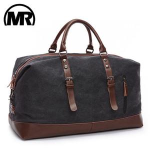 MARKROYAL Холст Кожа мужчины путешествия сумки ручной клади мешок Мужчины вещевой мешок сумки путешествия Tote Большие выходные Сумка Dropshipping CX200711