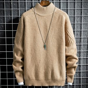 Herrenpullover 2021 Kaschmir Baumwollpullover Herbst Winter Jersey Jumper Robe Hombre Pull Homme Hiver Pullover Männer O-Hals gestrickt