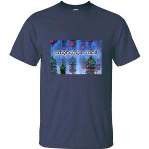 Design best Progressive Rock - Alien hanging Gardens t-shirt men black Letter male tshirts round Neck Short Sleeve Hipster