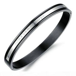 Classic Couple Bracelet Creative Forever Love You Bracelets Bangles Titanium Steel Lover Jewelry Bracelet Lover Gift