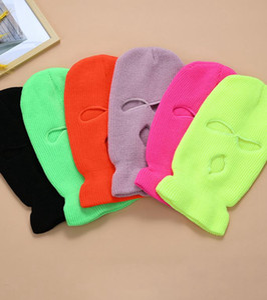 3-Hole Full Face Cover Ski Mask Winter Cap Balaclava Hood Beanie Warm Tactical Hat party hats 14 colors LJJK2449