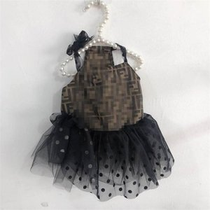 Latest Letter Printed Pet Dresses Cute Dot Pattern Schnauzer Skirts Outdoor Lovely Charm Teddy Trendy Dress Apparel