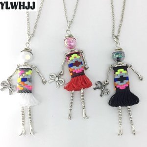 YLWHJJ new fashion cute doll colorful talsel pendant necklace for women hot jewelry girl long choker sweater chain collier femme