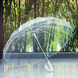 Semi-Automatic Transparent Umbrellas For Protect Against Wind And Rain Long-Handle Umbrella Clear Field Of Vision T200117