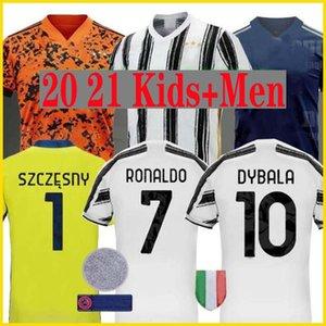 futbol forması 4 SARAY formalarını Ronaldo x 20 21 DYBALA D.COSTA JUVENTUS dördüncü Erkekler + Çocuk kiti üniformalar 2020 2021 De Ligt Cuadrado