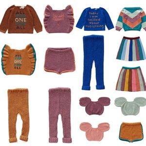 2019 Kid Oeuf niño de las muchachas del muchacho suéter de punto y vestido de polainas de los niños de invierno marca de moda Tops niños de ganchillo suéter Tops T200804