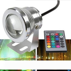 New 2019 10W RGB LED Underwater Light Waterproof IP68 Fountain Swimming Pool Lamp 16 Colorful Change With 24Key IR Remote