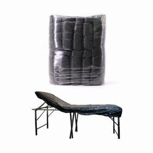 Dövme Sandalye Yatak Örtüsü Siyah Plastik Elastiki Masaj Masa Dövme SPA Hotel Oda 10pcs Su geçirmez Karşıtı Yağ Pigment Gömme Sac / çanta